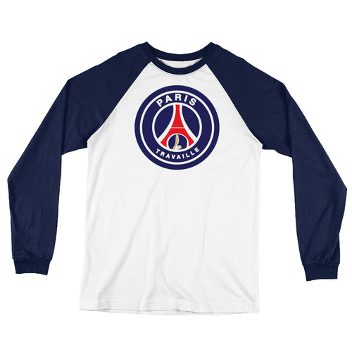 Paris PSG Long Sleeve Baseball Tee - Trabajando Skate Apparel