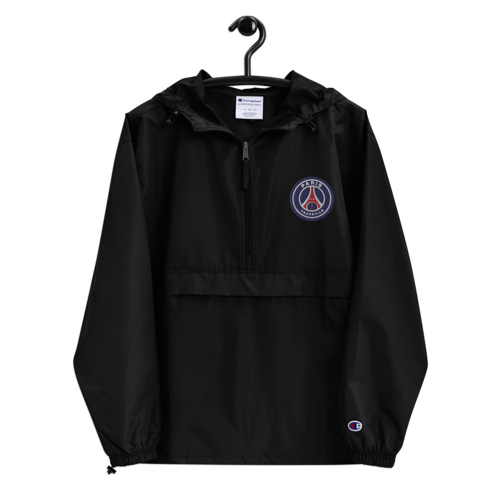 Paris Travaille Black Champion Windbreaker