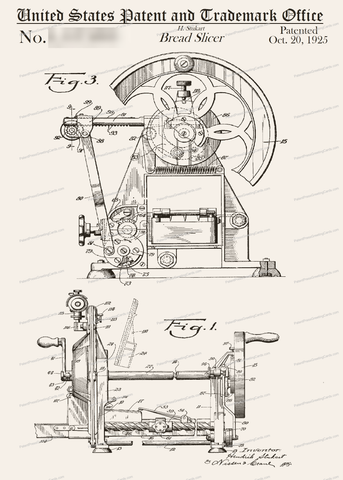 CARD-061: Bread Slicer - Patent Press Greeting Cards