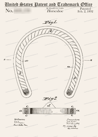 CARD-102: Horse Shoe - Patent Press Greeting Cards