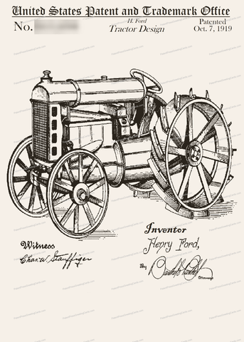 CARD-135: Tractor - Patent Press Greeting Cards