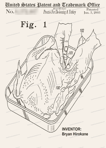 CARD-174: Process for De-Boning a Turkey - Patent Press Greeting Cards