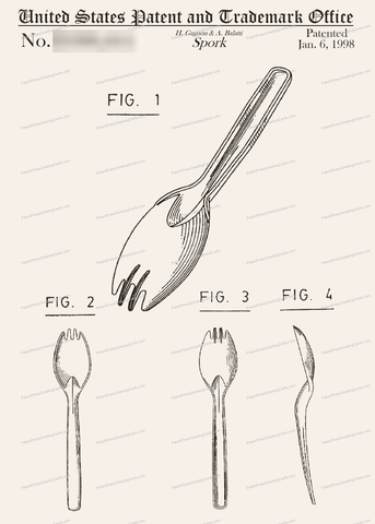 CARD-178: Spork - Patent Press Greeting Cards