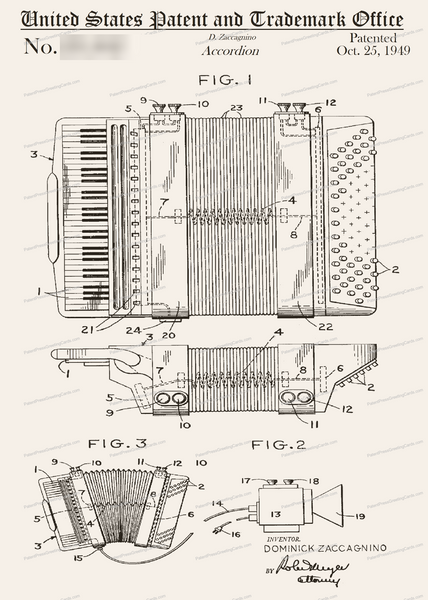 Card-210: Accordion - Patent Press Greeting Cards