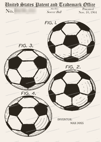 CARD-229: Soccer Ball - Patent Press Greeting Cards