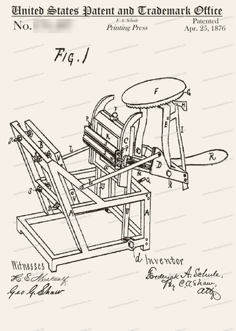 CARD-239: Printing Press - Patent Press Greeting Cards
