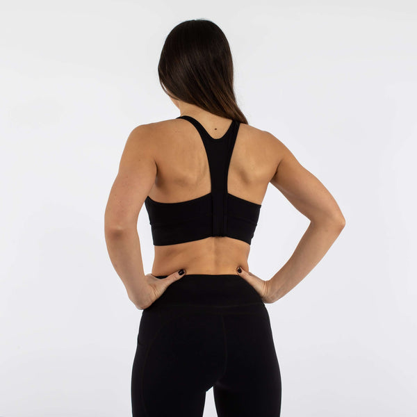 Versa Forma | Fika Sports Bra - Dark Black