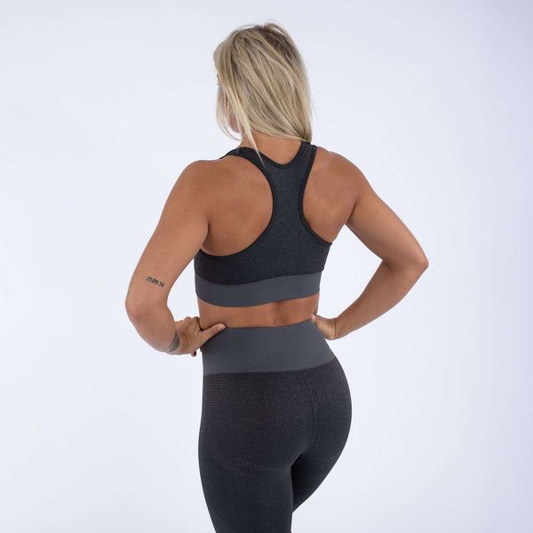 Versa Forma | Alskar Seamless Sports Bra - Dark Grey