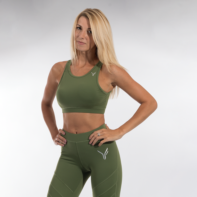 Versa Forma | Exclusive Crop Bra - Olive