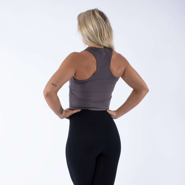 Versa Forma | Daven Crop Top - Carbon