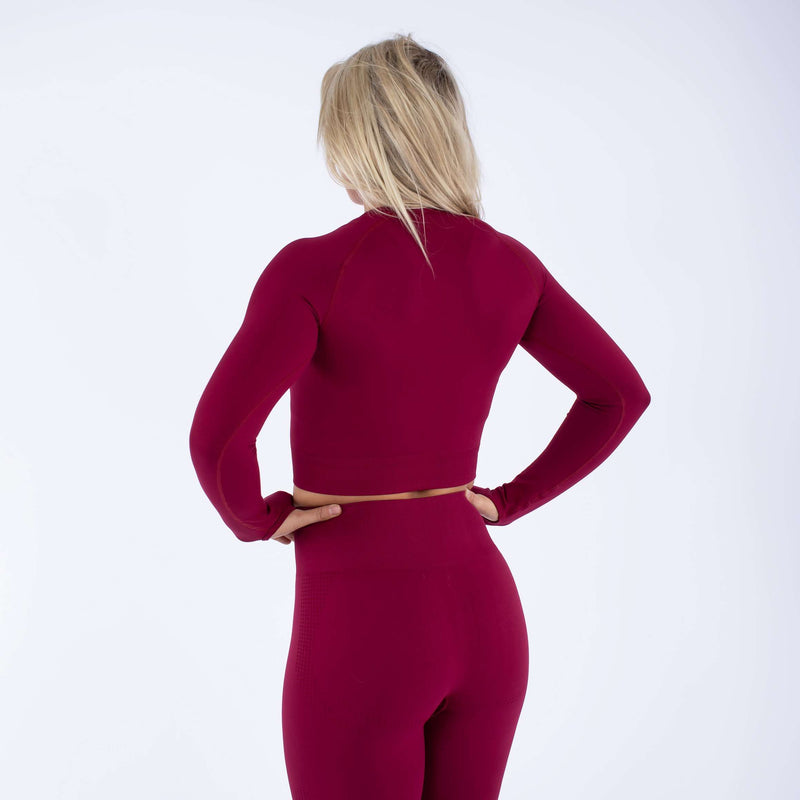 Versa Forma | Alskar Seamless Crop Top - Dry Red