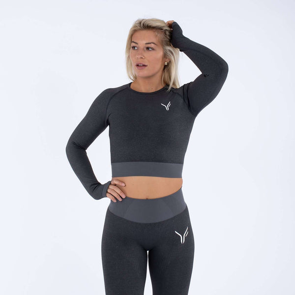 Versa Forma | Alskar Seamless Crop Top - Dark Grey