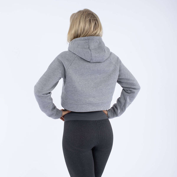 Versa Forma | Monika Crop Hood - Grey Heather