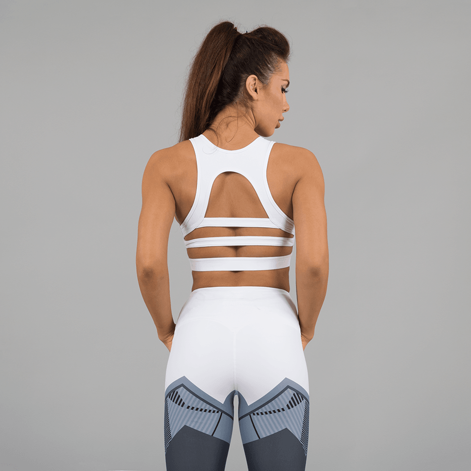 Versa Forma | Ark Crop Bra - White Edition