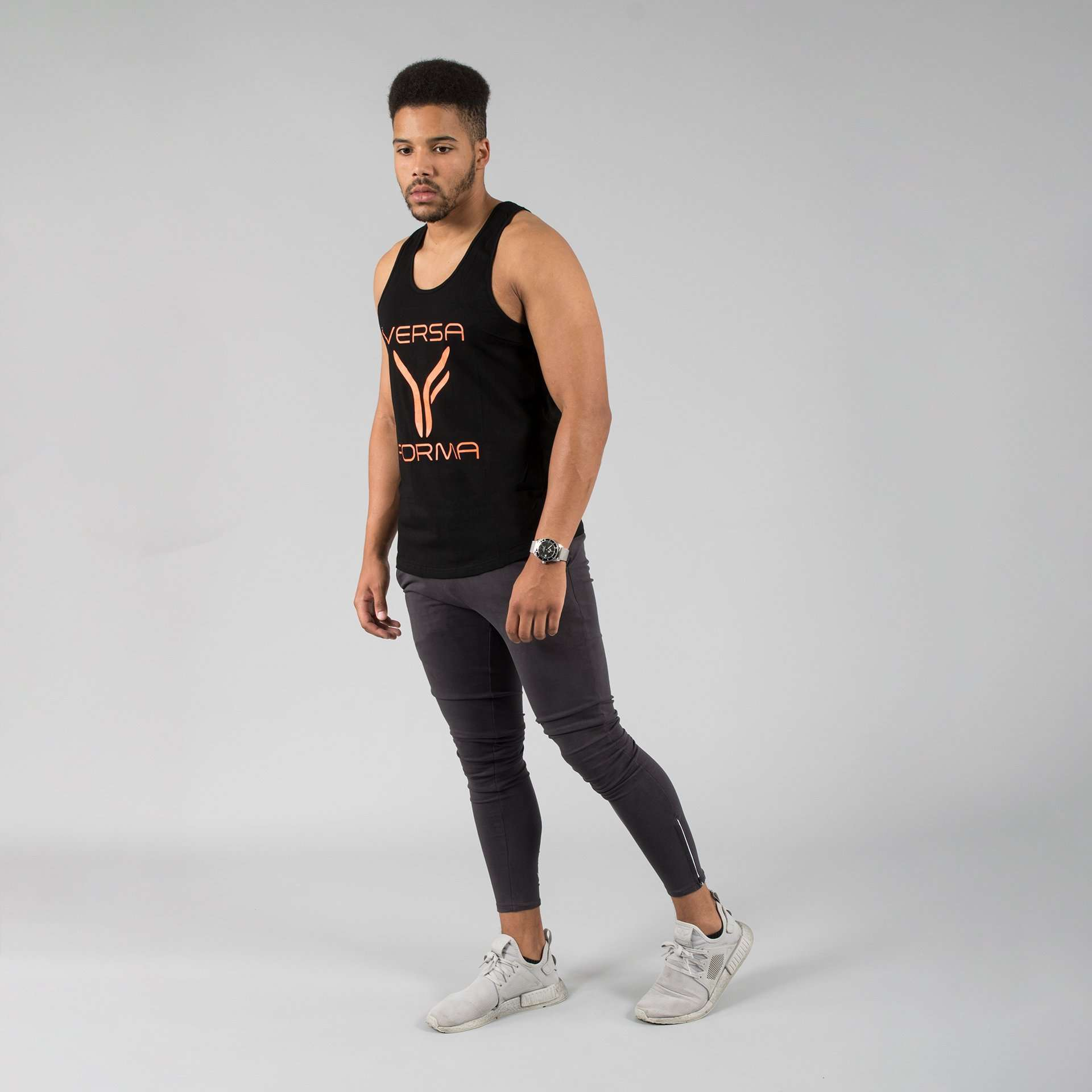 Versa Forma | Basic Vest - Black/Orange