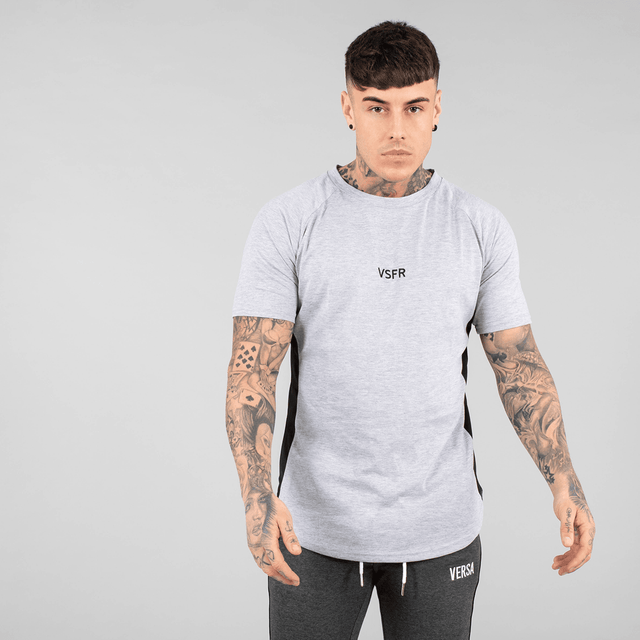 Versa Forma | Booksar Vented Tee - Light Grey