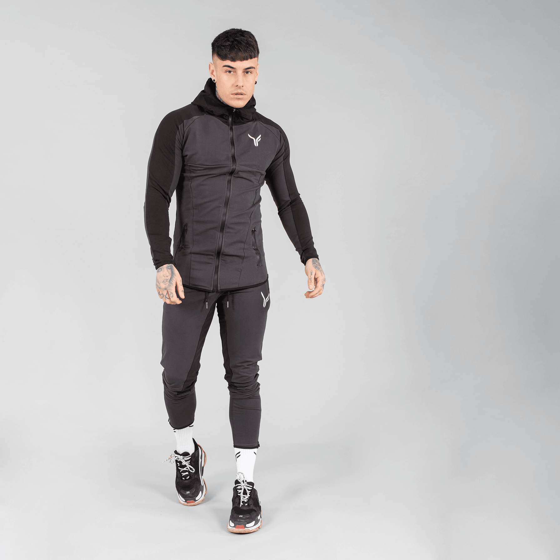 Versa Forma | Chale Track Zip - Charcoal/Black