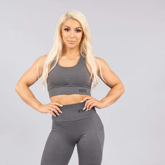 Versa Forma | Mode Crop Bra in Falcon Grey