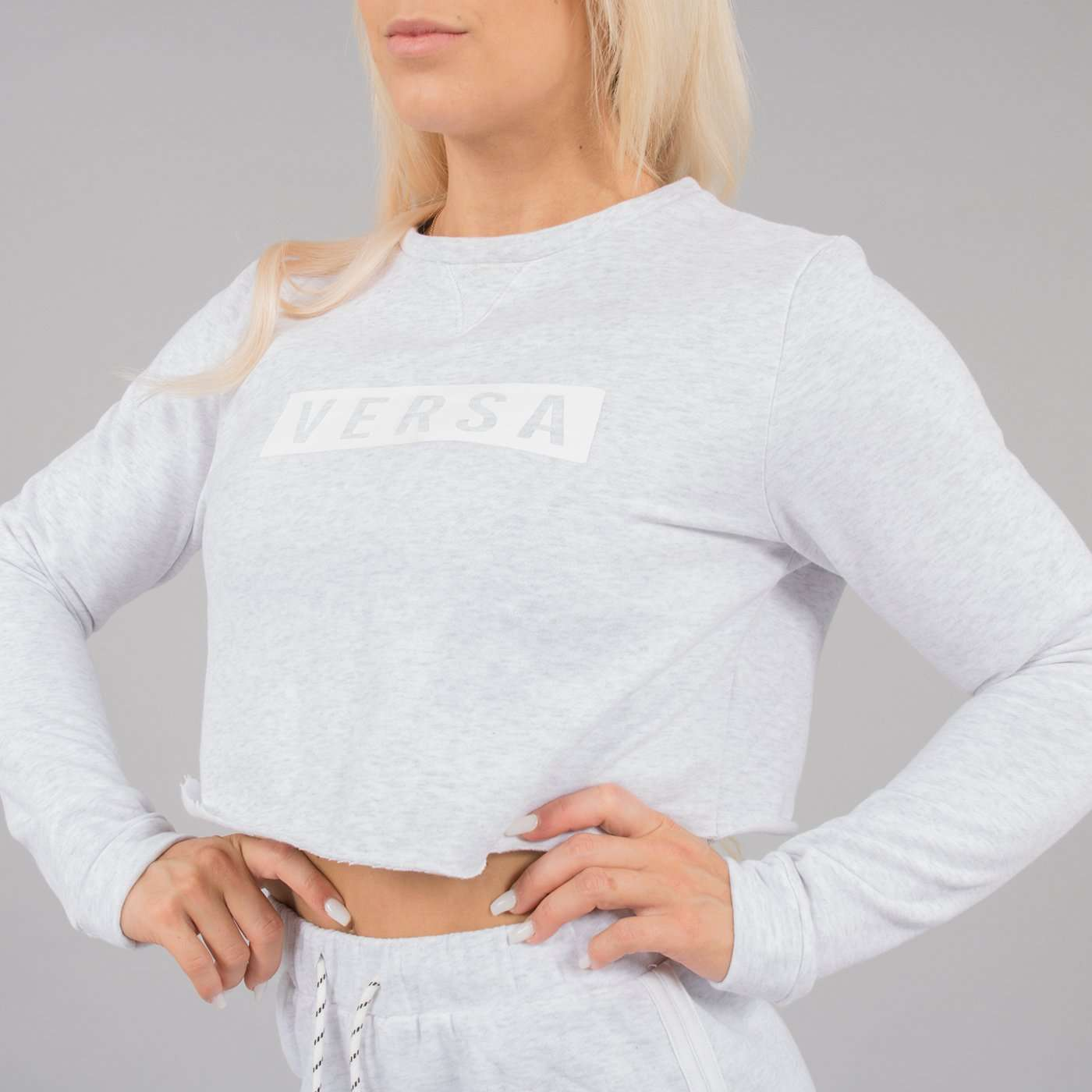 Versa Forma | Nao Crop Top - White Heather
