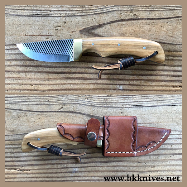 "7-1/2"" Farrier Rasp Knife w/Brass Bolster"