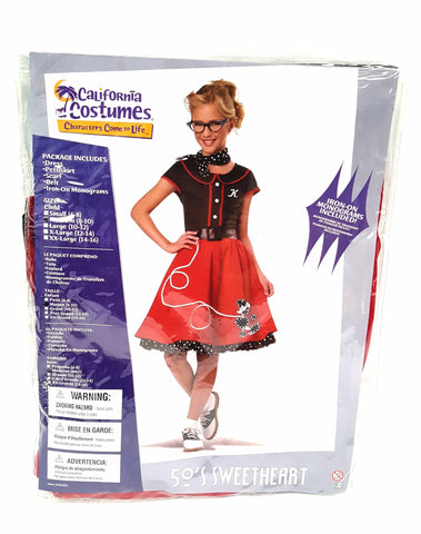 50's Costume Sweetheart Child California Costumes Collections Red / Black Medium buymi