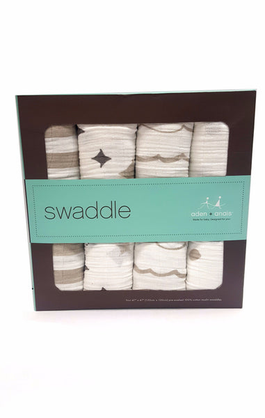Aden + Anais Classic Swaddle Blanket Shine On 4 Pack buymi
