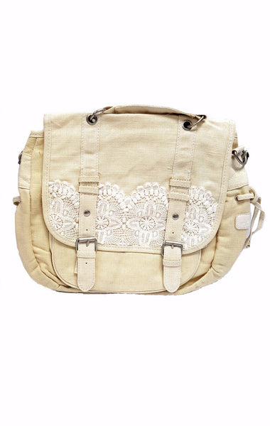 Aeropostale Crochet Canvas Convertible Messenger or Backpack buymi