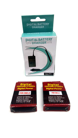 Amsahr ENEL2 Digital Replacement Battery Plus Travel Charger buymi