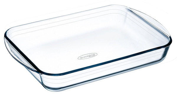 Arcuisine Glass Rectangular 15.35 x 9.5 Inch Roaster Pan buymi