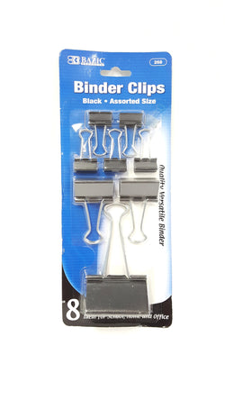 BAZIC Binder Clips Assorted Sizes - 8 Pack buymi