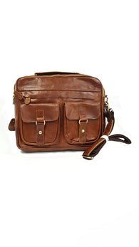 Baigio Mens Large Retro Handbag Shoulder Messenger Bag Brown buymi