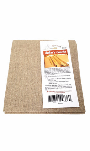 "Breadtopia Baker's Couche Professional Flax Linen Proofing Cloth (24"" x 36"") buymi"