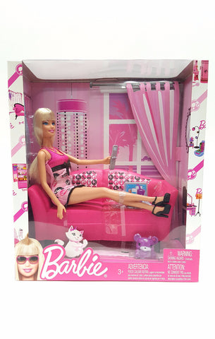 Barbie Doll 2009 Glam and Sofa Playset T3578 buymi