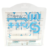 Blue Strawz Connectable Build Your Own Straws Construction Kit  DETAILS:  CONSTRUCT YOUR OWN CRAZY DRINKING STRAW SET-UPS -- kit contains everything you need to let your sipping imagination run wild NON-TOXIC AND DISHWASHER SAFE - safe for kids and playful adults FUN AND INEXPENSIVE PRESENT - comes in fun and attractive packaging. ORIGINAL STRAWZ - designed by the friendly folks at NuOp Designs buymi