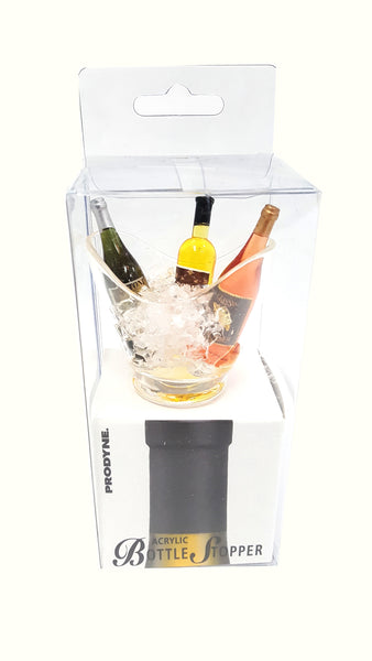 Bottle Stopper Wine Stopper Bottles In Ice Bucket Vino Gondola Acrylic buymi