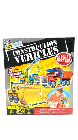 Boy Craft Construction Vehicles Wooden Crafting Build It Yourself buymi