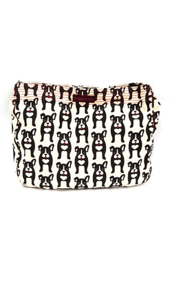 Bungalow360 Womens Canvas Large Messenger Tote Bag Black Dog buymi