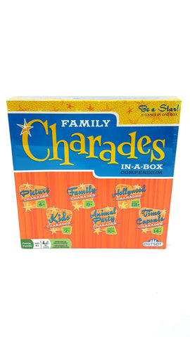 Charades Party Game Family Charades-in-a-Box Compendium Board Game buymi