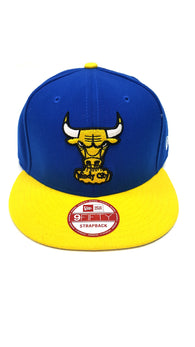 Chicago Bulls New Era Strapback 9Fifty 950 Retro Laney Blue Yellow Medium Large buymi