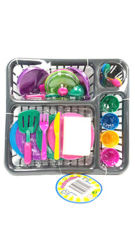 Kitchen Play Dishes Set for Kids 27 Piece Set buymi