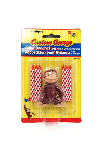 Curious George Cake Topper & Birthday Candle Set buymi
