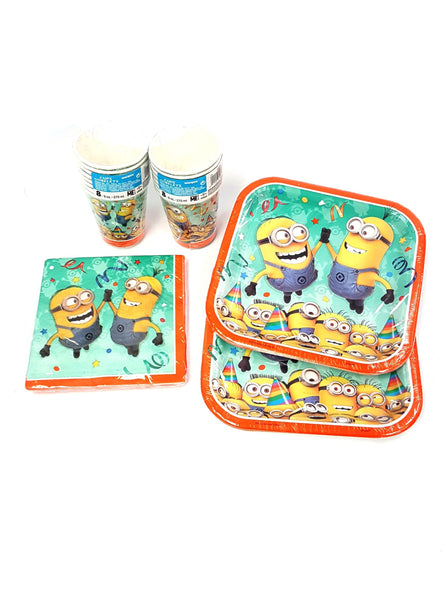 DESPICABLE ME 2 Minions Birthday Party Supply Kit for 16 Cups Napkins Plates buymi