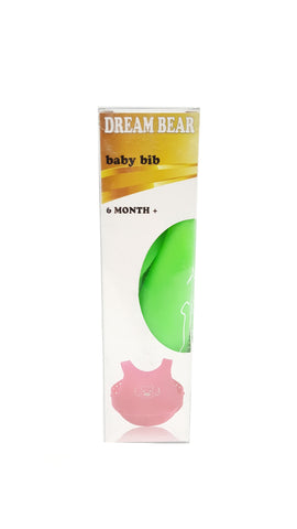 DREAM BEAR® Soft Wearable Baby Bib Food-Grade Silicone Green buymi