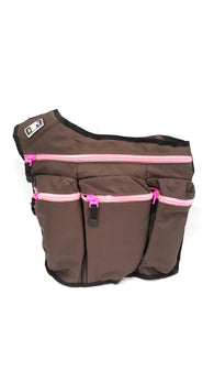 Diaper Dad Diva Brown with Pink Zippers buymi
