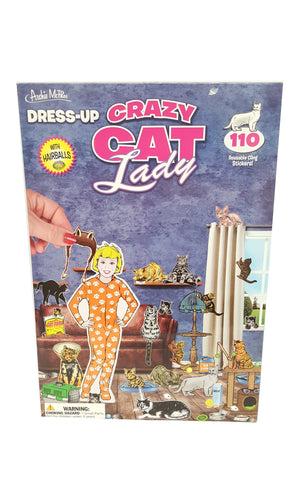 Dress-Up Crazy Cat Lady 110 Reusable Cling Stickers buymi