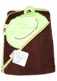 Extra Large 40x30 Absorbent Hooded Towel Frog Frenchie Mini Couture buymi