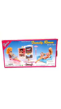 Gloria Barbie Size Doll House Furniture Family Room TV Couch Ottoman buymi