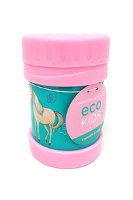 Horse Food Jar Pink Teal 11.5 oz Insulated SS Crocodile Creek Girls Eco buymi