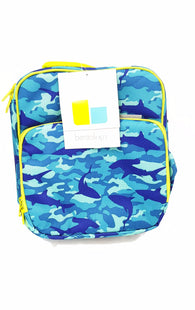 Insulated Durable Lunch Bag - Reusable Meal Tote With Handle and Pockets - Shark Camo buymi