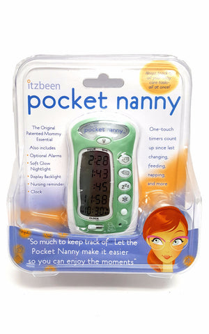 Itzbeen Pocket Nanny Personal Baby Care Timer Green